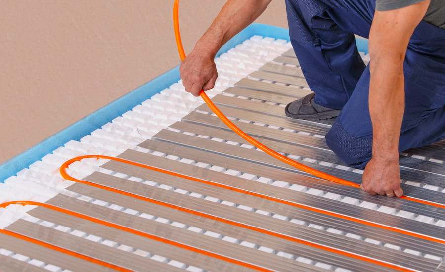 montazh teplogo pola elektryky - Монтаж теплого пола